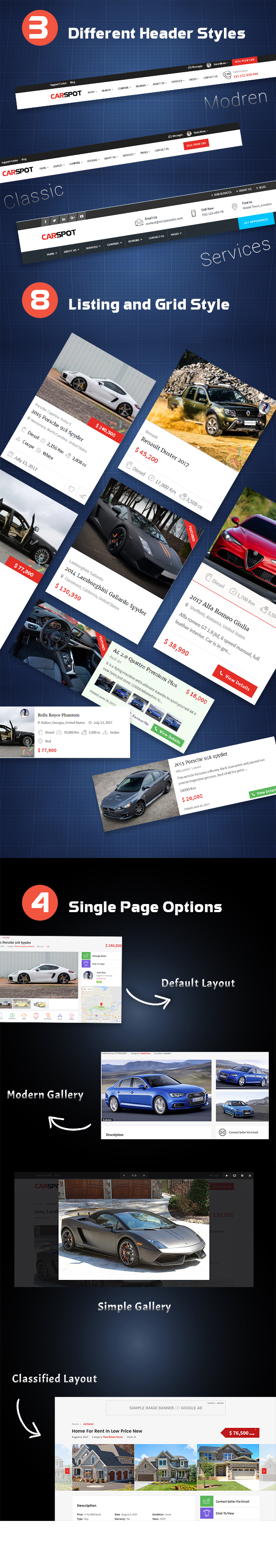 wordpress automotive theme header styles